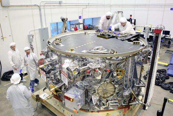 Módulo de servicio de la Cygnus OA-6 (NASA).