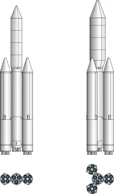 Diseño del 11K37 Trizenit de 1989 (Novosti Kosmonavtiki).