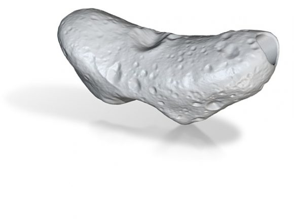 Modelo 3D de Eros a partir de los datos de la sonda NEAR (http://images3.sw-cdn.net/).