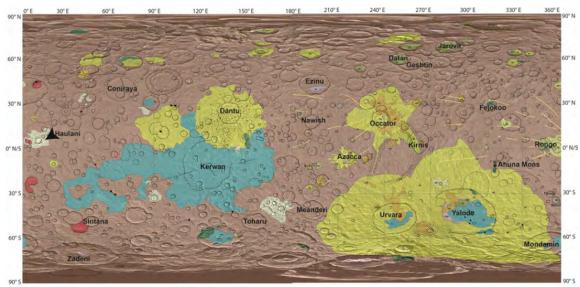 Mapa geológico de Ceres