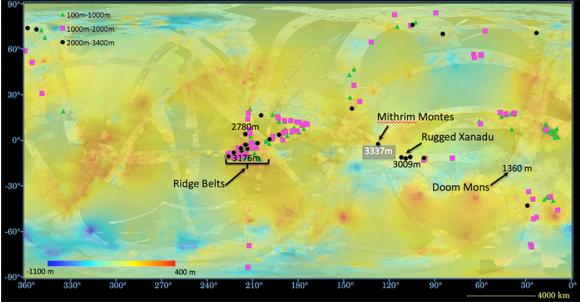 Otra vista del mapa anterior (NASA/JPL).