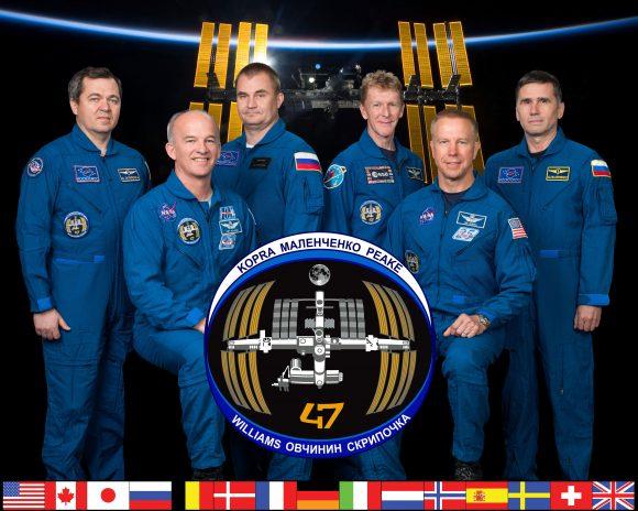 Tripulación de la Expedición 47 de la ISS (NASA).