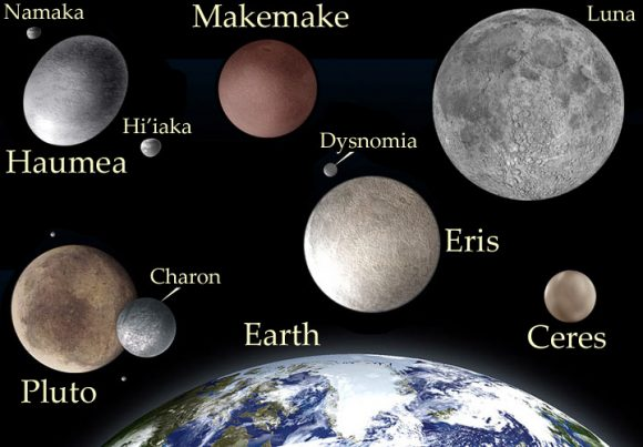 Algunos planetas enanos (NASA).