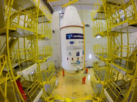 Sentinel 1BTransfert sur la pfrcs du composite supŽrieur VS14