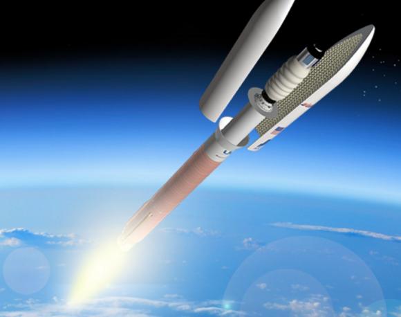 Un Atlas V de ULA con el módulo B330 (ULA).