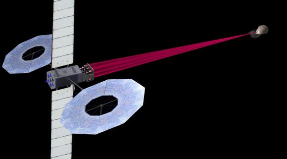 Propuesta DE-STARLITE para desviar asteroides con láseres (Lubin et al.).