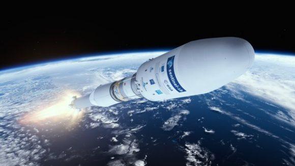 Recreación del lanzamiento (ESA).