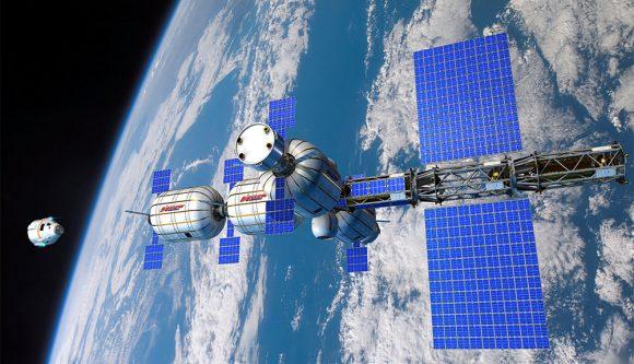 Plan de estación espacial a base de módulos de Bigelow (Bigelow).