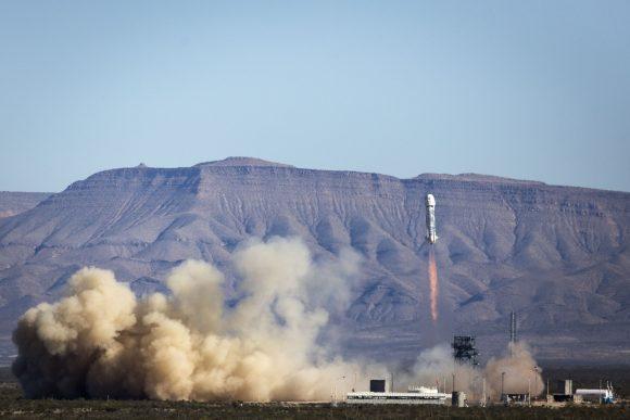 Lanzamiento del New Shepard desde Texas (Blue Origin).