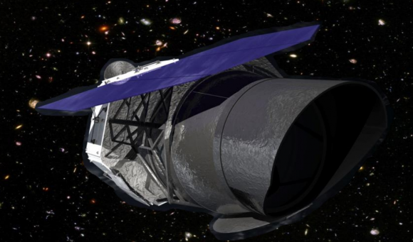 Diseño actual del telescopio espacial WFIRST (NASA/Goddard).