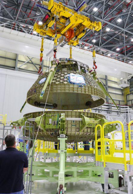 Montaje del fuselaje del prototipo STA en mayo de 2016 (NASA).