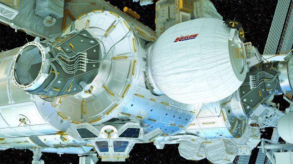 Aspecto teórico que debía tener BEAM una vez inflado (NASA).