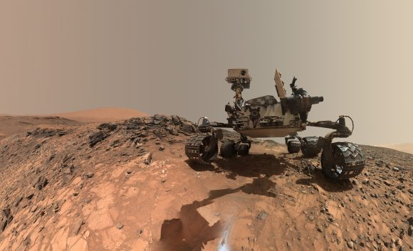 Curiosity en el cráter Gale (JPL/NASA).
