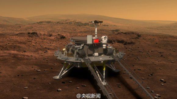 El rover antes de descender a la superficie (Xinhua).