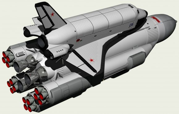 OK-92 sobre el cohete RLA-130 (www.buran.ru).
