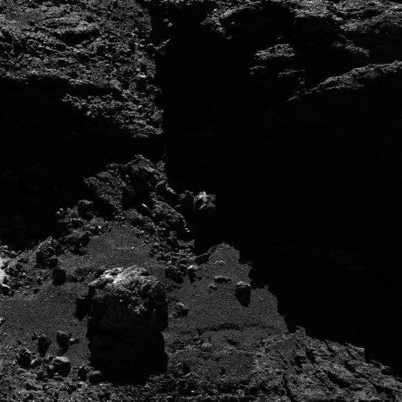 17 septiembre 7,7 (ESA/Rosetta/MPS for OSIRIS Team MPS/UPD/LAM/IAA/SSO/INTA/UPM/DASP/IDA).