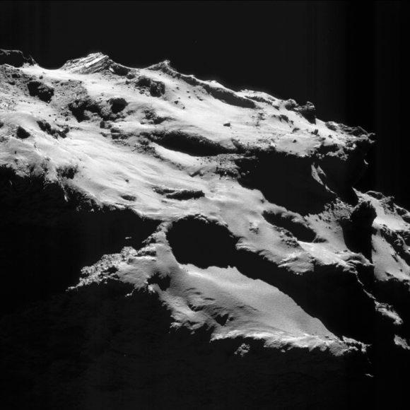 asas 18 septiembre 12,1 km (ESA/Rosetta/NAVCAM).