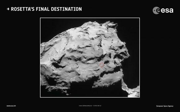 Lugar de descanso final de Rosetta (ESA).