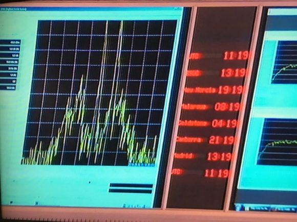 La señal de Rosetta justo antes de desaparecer (ESA).