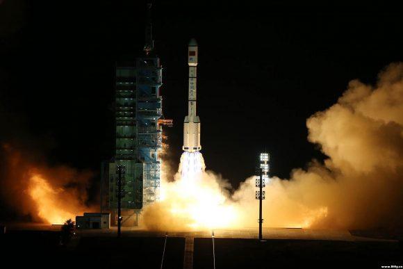 Lanzamiento del Tiangong 2 (Xinhua).