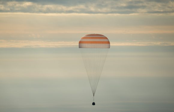 Regreso de la Soyuz MS (NASA).
