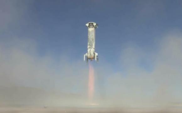 Cuarto y último aterrizaje del NS-2 (Blue Origin).
