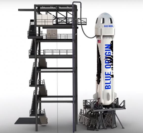 Una vista de las instalaciones del New Shepard (Blue Origin).