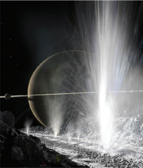 Los chorros de Encélado nos ofrecen una oportunidad única para estudiar su océano interior (NASA).