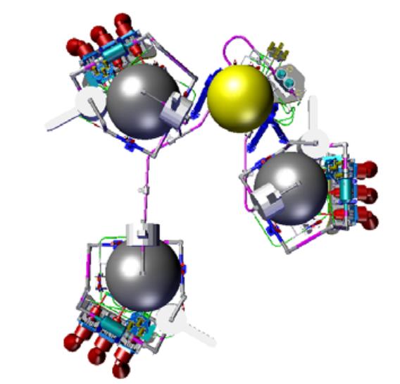 Sistema de propulsión de Shiaparelli (ESA).