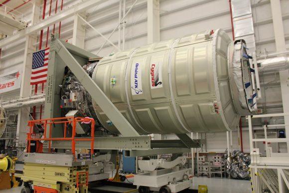 Módulo presurizado de la Cygnus OA-5 (Orbital ATK).