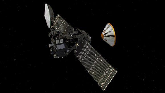 Separación de Schiaparelli de ExoMars TGO (ESA).