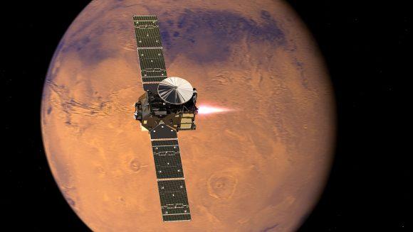 Maniobra de inserción orbital de ExoMars TGO (ESA).