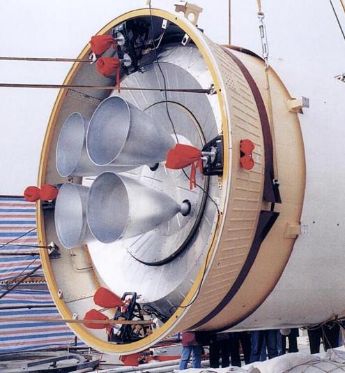 Motores del módulo de propulsión.