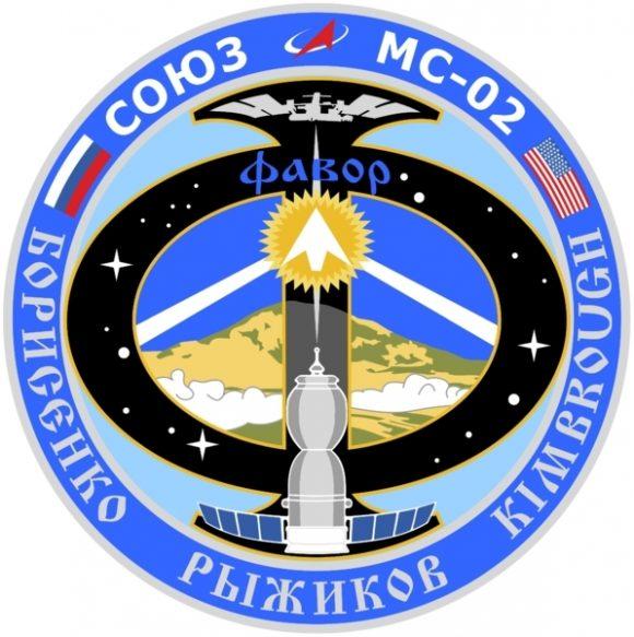 Emblema de la Soyuz MS-02 (Roscosmos).
