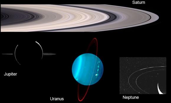 Otra vista de los anillos del sistema solar (NASA).