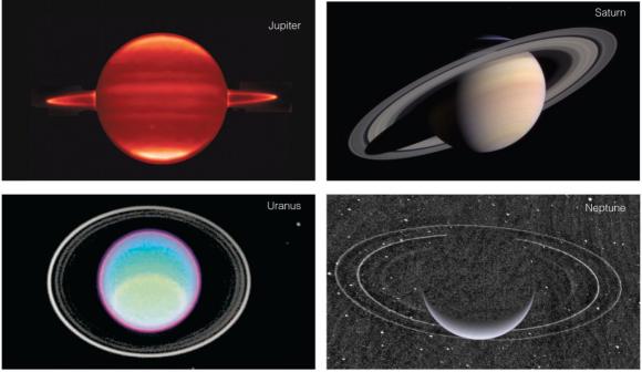 Los distintos anillos del sistema solar (NASA).