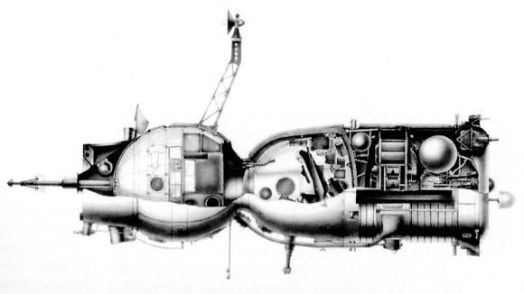 Soyuz 7K-OK de primera generación.