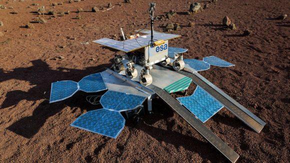 La plataforma de superficie rusa y el rover europeo ExoMars 2020 (ESA).