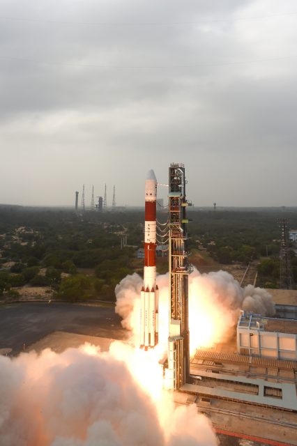 Lanzamiento del Resourcesat 2A (ISRO).