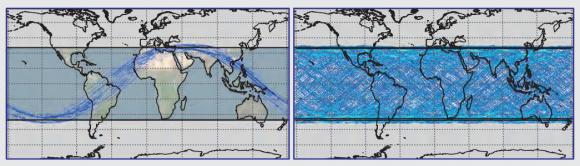 Cobertura de los satélites CYGNSS (NASA).