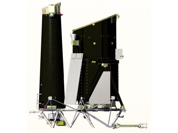 Telescopios de Spektr-RG: ART-XC (izquierda) y eROSITA (derecha) (NPO Lávochkin).