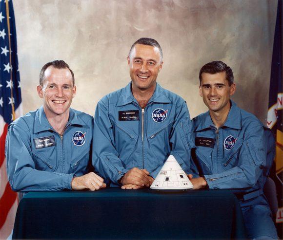 White, Grissom y Chaffe (NASA).