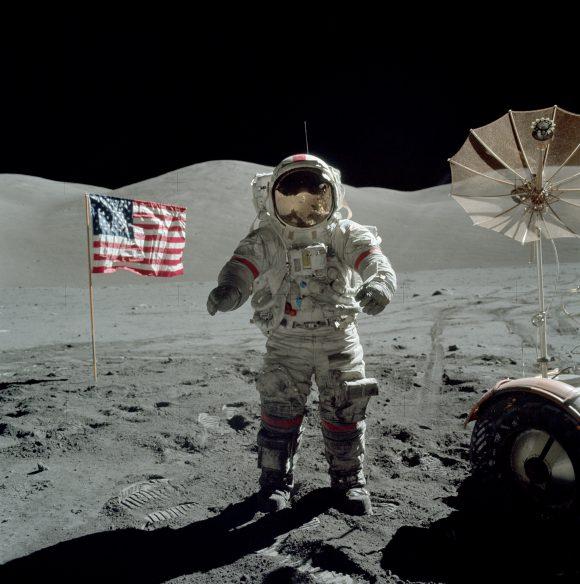 Cernan en la Luna (NASA).