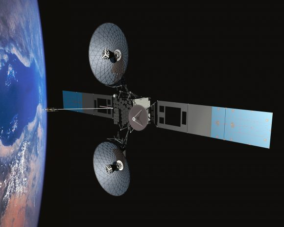 Satélite de comunicaciones TDRS para permitir cobertura constante de satélites en órbita baja, incluida la ISS (NASA).