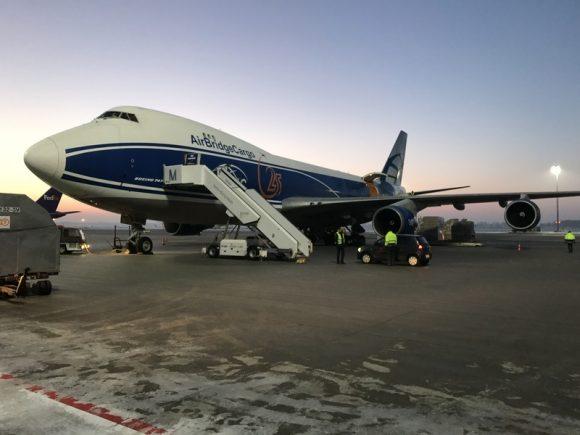 eROSITA llega a Moscú a bordo de un Antonov An-124 (NPO Lávochkin).