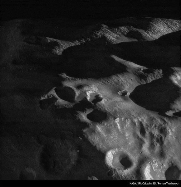 Primer plano de Epimeteo (NASA/JPL-Caltech/Space Science Institute/Roman Tkachenko).