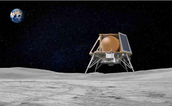 Sonda HHK1 de Team Indus que llevará dos rovers a la Luna (Team Indus).