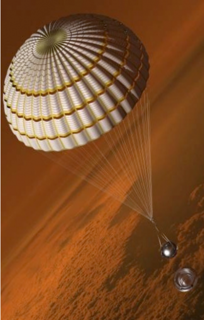La cápsula DAVINCI desciende por la atmósfera de Venus (NASA).