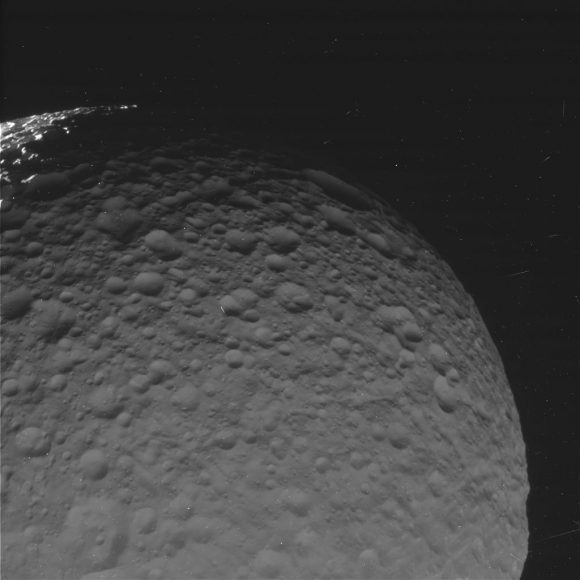 Mimas visto el 30 de enero (NASA/JPL-Caltech/Space Science Institute).