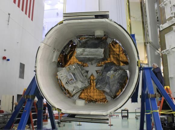 Parte trasera de la Dragon CRS-10 con la carga no presurizada (NASA).